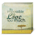 It's impossible to love too much | Inspirational Quote | Robert Clancy